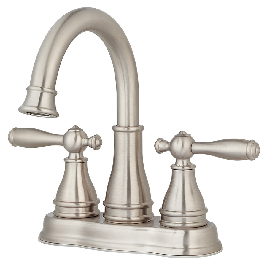 Shop pfister sonterra brushed nickel 2 handle 4 in for Bathroom sink faucets