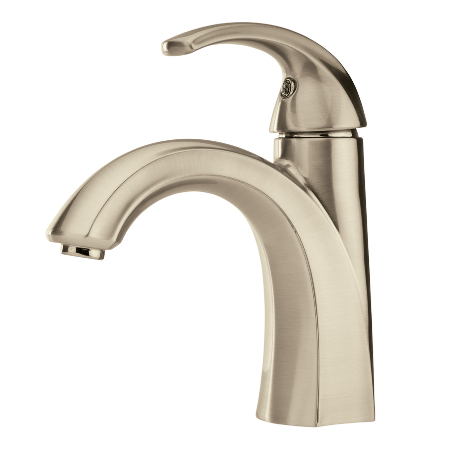 Shop pfister selia brushed nickel 1 handle single hole for Bathroom faucets lowes