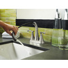 Pfister Ideal Brushed Nickel 2-Handle 4-in Centerset WaterSense Bathroom Faucet (Drain Included)