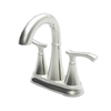 Pfister Ideal Brushed Nickel 2-Handle 4-in Centerset WaterSense Bathroom Sink Faucet (Drain Included)