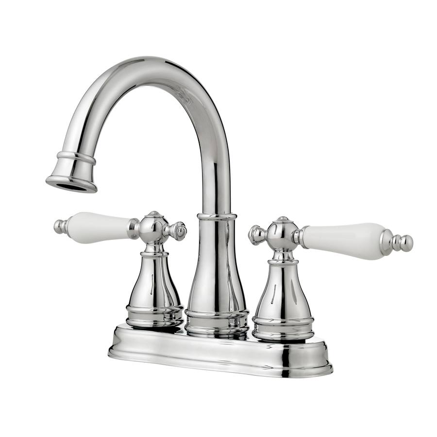 Shop pfister sonetrra polished chrome 2 handle 4 in for Bathroom faucets lowes
