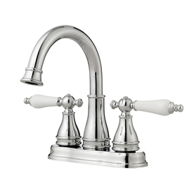Pfister Sonetrra Polished Chrome 2-Handle 4-in Centerset WaterSense Labeled Bathroom Sink Faucet (Drain Included)