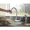 Pfister Glenfield Stainless Steel 2-Handle High-Arc Kitchen Faucet with Side Spray