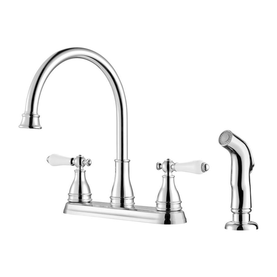 Shop pfister sonterra polished chrome 2 handle high arc - Lowes price pfister bathroom faucets ...