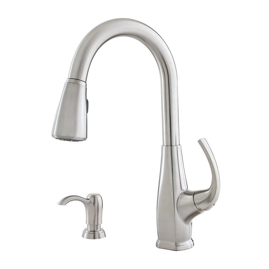 Shop Pfister Selia Stainless Steel 1 Handle Pull Down Kitchen Faucet At