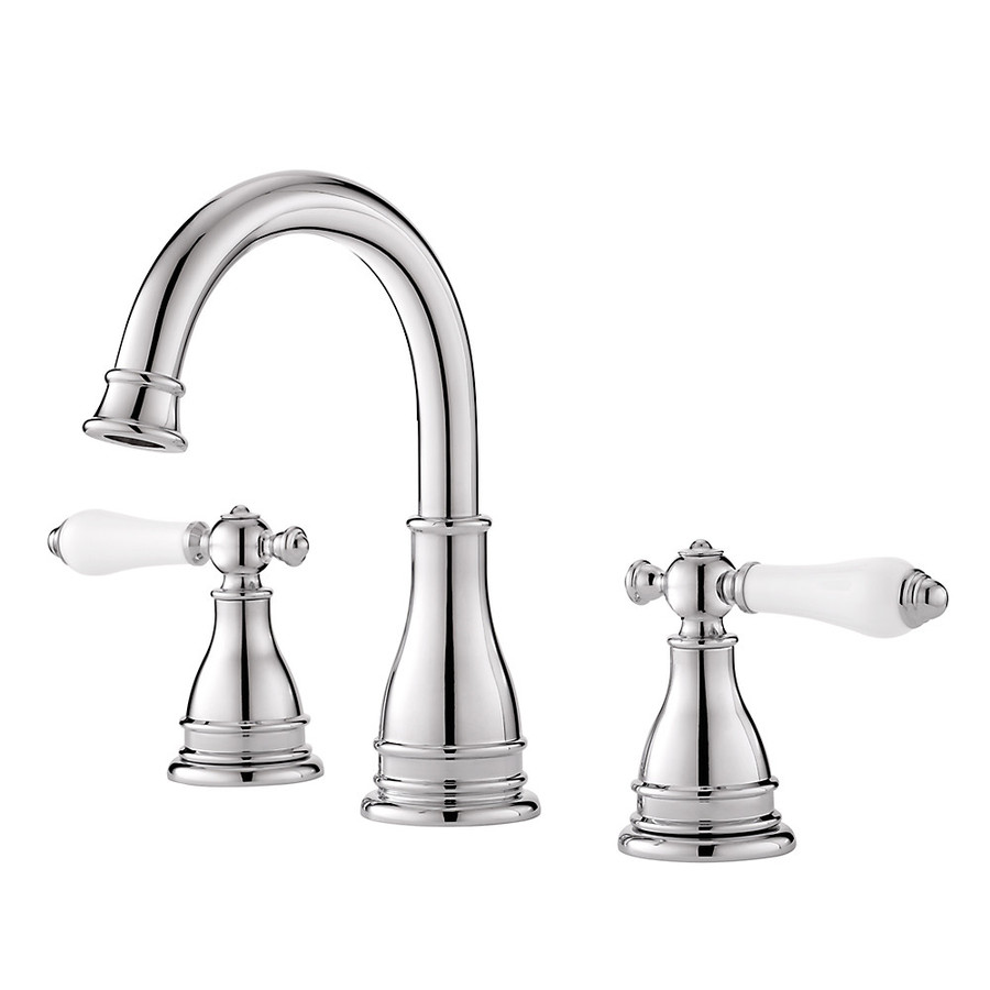 ... Handle Widespread WaterSense Bathroom Sink Faucet (Drain Included