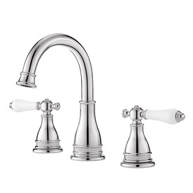Pfister Sonterra Polished Chrome 2-Handle Widespread WaterSense Bathroom Faucet (Drain Included)