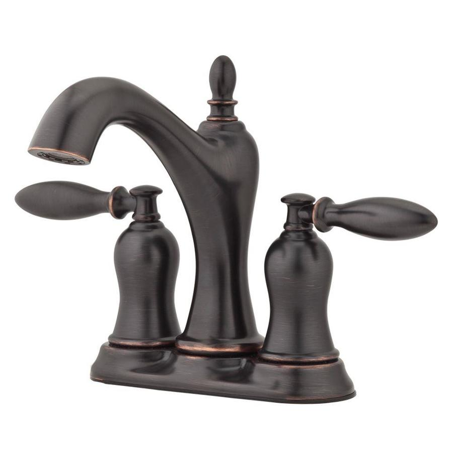 Bathroom Sink Faucets Bronze : Tuscan Bronze 2-Handle 4-in Centerset WaterSense Bathroom Sink Faucet ...
