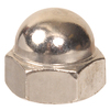 Blue Hawk 4-Count #10-24 Nickel Standard (SAE) Cap Nuts