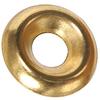Blue Hawk 4-Count #12 Brass Standard (SAE) Finishing Washers
