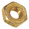 Blue Hawk 3-Count #4- 40 Brass Standard (SAE) Hex Nuts
