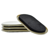 The Hillman Group 4-Pack 3.5 x 6-in Oval Reusable Felt and Plastic Carpet and Hard Surface Sliders