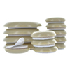 The Hillman Group 20-Pack 1-in and 1.75-in Round Adhesive Backed Plastic Hard Surface Sliders