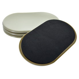 Shop The Hillman Group 4 Pack X 9 5 In Oval Reusable Plastic Carpet Sliders At