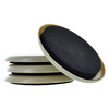 The Hillman Group 4-Pack 3.5-in Round Reusable Plastic Carpet Sliders