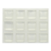 The Hillman Group 12-Pack 0.5-in Square Adhesive Backed Plastic Hard Surface Sliders