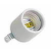 SERVALITE 75-Watt Grey Hard-Wired Lamp Socket