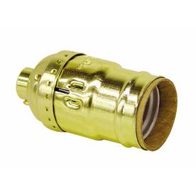 SERVALITE 75-Watt Gold Lamp Socket