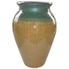 New England Pottery 26.02-in H x 13.03-in W x 18.01-in D Jade/Honey Glazed Ceramic Outdoor Urn