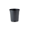 New England Pottery 7-in H x 6.5-in W x 6.5-in D Black Resin Planter