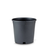 New England Pottery 8.5-in H x 8.75-in W x 8.75-in D Black Resin Planter