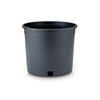 New England Pottery 9.25-in H x 11.25-in W x 11.25-in D Black Resin Planter