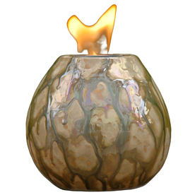 allen + roth Pele 7.09-in Sepia Pearl Ceramic Fire Pot