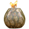 allen + roth Pele 7.09-in Sepia Pearl Ceramic Fire Pot