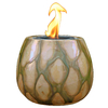 allen + roth Pele 5-in Sepia Pearl Ceramic Fire Pot