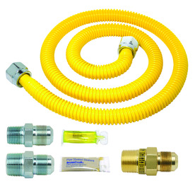 BrassCraft 48-in 106000 PSI Stainless Steel Gas Appliance Installation Kit