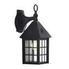 Portfolio 16-in Black Outdoor Wall Light