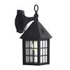 Portfolio 15.12-in H Black Outdoor Wall Light