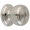 Brink's Home Security Classics Satin Nickel Round Turn-Lock Privacy Door Knob
