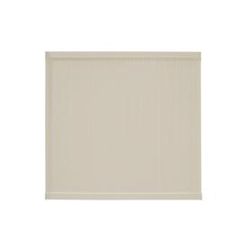 Plastival 6-ft x 6-ft Beige Flat-Top Privacy Vinyl Fence Panel