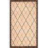 Momeni Regency 60-in x 90-in Rectangular Cream/Beige/Almond Border Area Rug