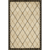 Momeni Regency 90-in x 114-in Rectangular Cream/Beige/Almond Border Area Rug