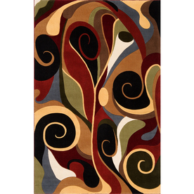 Momeni Graffiti Multicolor Rectangular Indoor Woven Area Rug (Common: 5 x 8; Actual: 63-in W x 93-in L)