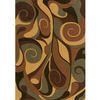 Momeni Graffiti 120-in x 168-in Rectangular Brown/Tan Geometric Area Rug