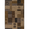 Momeni Hudson 24-in x 36-in Rectangular Beige Block Accent Rug