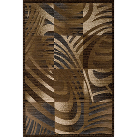 Momeni Worth Rectangular Brown Geometric Woven Area Rug (Common: 4-ft x 6-ft; Actual: 3.91-ft x 5.58-ft)