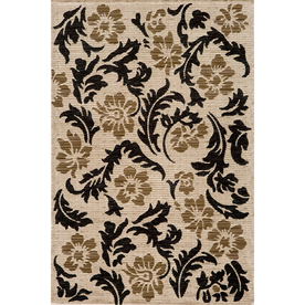 Momeni Jerome Rectangular Cream Floral Woven Area Rug (Common: 4-ft x 6-ft; Actual: 3.91-ft x 5.58-ft)