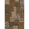 Momeni Fulton 63-in x 90-in Rectangular Brown/Tan Transitional Area Rug