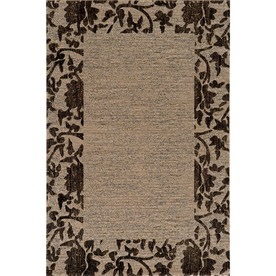 Momeni Crosby Rectangular Cream with Brown Border Area Rug (Common: 5-ft x 8-ft; Actual: 5-ft 3-in x 7-ft 6-in)