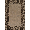 Momeni Crosby Rectangular Cream with Brown Border Area Rug (Common: 10-ft x 13-ft; Actual: 9-ft 3-in x 12-ft 6-in)
