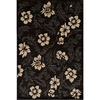 Momeni Jerome Rectangular Black Floral Woven Area Rug (Common: 10-ft x 13-ft; Actual: 9.25-ft x 12.5-ft)