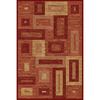 Momeni Boxing Rectangular Red Geometric Woven Area Rug (Common: 4-ft x 6-ft; Actual: 3.91-ft x 5.58-ft)