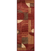 Momeni Essex Red Woven Runner (Common: 2-ft x 7-ft; Actual: 2.25-ft x 7.5-ft)