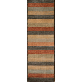 Momeni Cooper Multicolor Woven Runner (Common: 2-ft x 7-ft; Actual: 2.25-ft x 7.5-ft)