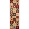 Momeni Stone Multicolor Woven Runner (Common: 2-ft x 7-ft; Actual: 2.25-ft x 7.5-ft)