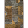 Momeni Essex 63-in x 90-in Rectangular Brown/Tan Geometric Area Rug